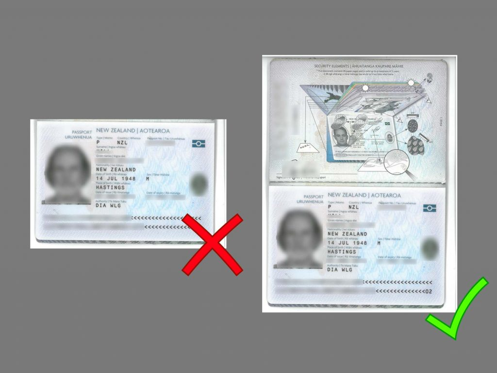 passport copy examples example face pages each china must
